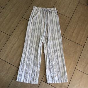 Drawstring striped beach pants